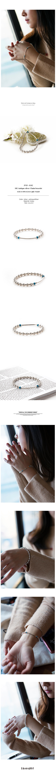 쇼브오프(SHOVEOFF) [Silver92.5]SVB - #S230 Round Bar Turquoise Bracelet